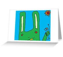 """Big Bad Bunny"" by Richard F. Yates Greeting Card"