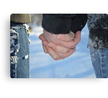 Warm Hand to Hold Canvas Print