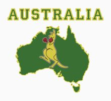 Aussie Boxing Kangaroo One Piece - Short Sleeve