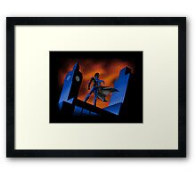 Sherlock Cartoon Framed Print