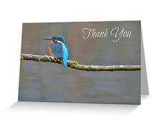 Kingfisher Thank You Card Greeting Card
