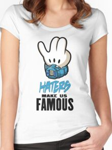 Mickey Hand Famous Women's Fitted Scoop T-Shirt