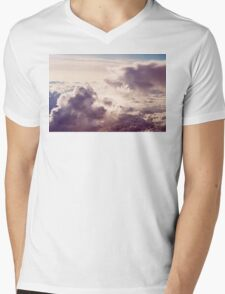 Cloudy Mens V-Neck T-Shirt