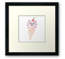 Ice Cream Cat Framed Print