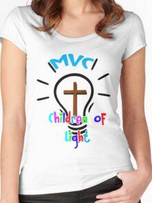 MVC- Children of Light w/ Cross Women's Fitted Scoop T-Shirt
