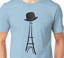 Bowler Hat Eiffel Tower Unisex T-Shirt