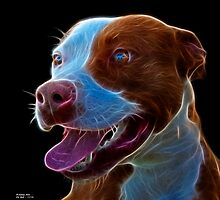 Pit Bull Pop Art - 7773  by Rateitart