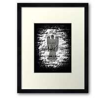 Weeping Angel -Don't Blink (scatter script) Framed Print