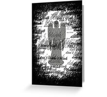 Weeping Angel -Don't Blink (scatter script) Greeting Card