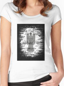 Weeping Angel -Don't Blink (scatter script) Women's Fitted Scoop T-Shirt