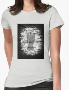 Weeping Angel -Don't Blink (scatter script) Womens Fitted T-Shirt
