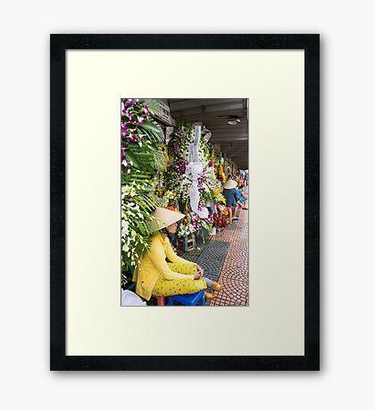 flower seller Framed Print