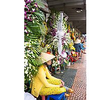 flower seller Photographic Print