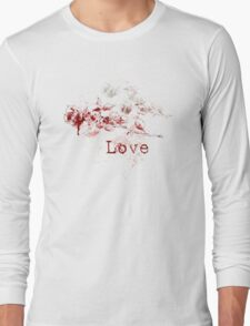 Romantic Pen and Ink Roses Long Sleeve T-Shirt