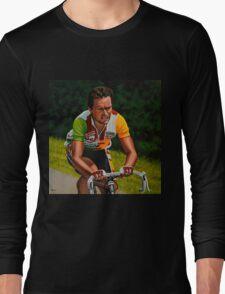 Bernard Hinault painting Long Sleeve T-Shirt