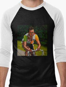Bernard Hinault painting Men's Baseball ¾ T-Shirt