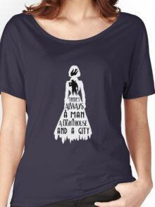 A Man, a Lighthouse and a City Women's Relaxed Fit T-Shirt