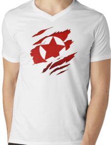 America Red Pride Mens V-Neck T-Shirt