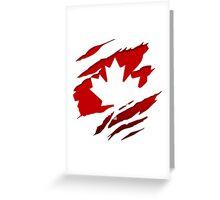 Canada Red Leaf Greeting Card