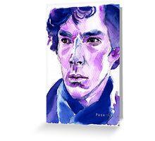 Sherlock - Blue Greeting Card