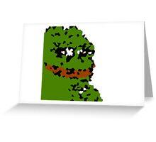 Abstract Pepe the Smug Frog Greeting Card