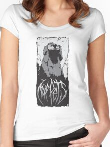 Death Metal Rowlf Muppets Women's Fitted Scoop T-Shirt