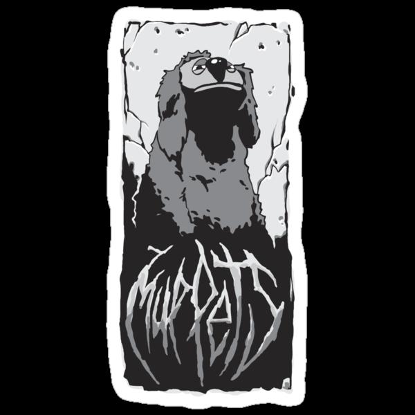 Death Metal Rowlf Muppets by Lee Pfenninger