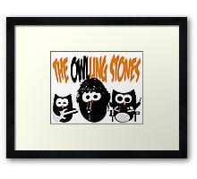 The Owl-Ling Stones Framed Print