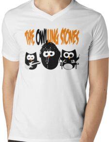 The Owl-Ling Stones Mens V-Neck T-Shirt