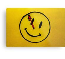 Watchmen Comedian Yellow Metal Print