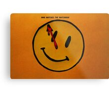 Watchmen Comedian Smiley Face Orange and Yellow Metal Print