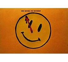 Watchmen Comedian Smiley Face Orange and Yellow Photographic Print