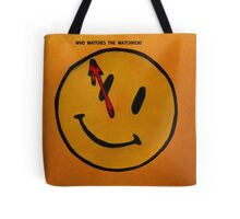 Watchmen Comedian Smiley Face Orange and Yellow Tote Bag