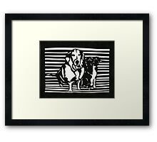 Rudy and Roxy Framed Print