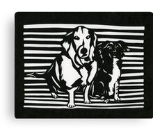 Rudy and Roxy Canvas Print