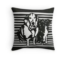 Rudy and Roxy Throw Pillow