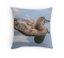 duck reflection Throw Pillow