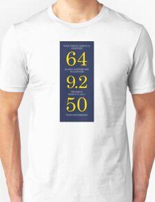64 9.2 50 Alaska Good Friday Earthquake 50th Anniversary Unisex T-Shirt