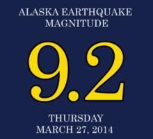 64 9.2 50 Alaska Good Friday Earthquake 50th Anniversary Sticker