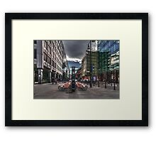 Bicycles parking Framed Print