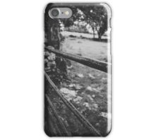 Black & White countryside iPhone Case/Skin