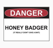 DANGER: HONEY BADGER (IT REALLY DON'T GIVE A SHIT) by Bundjum