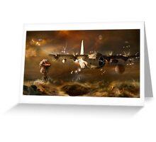 Futuristic revivals-Jupiter Greeting Card