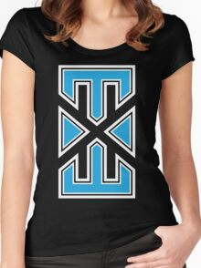 blue_black_varsity.EXE Women's Fitted Scoop T-Shirt