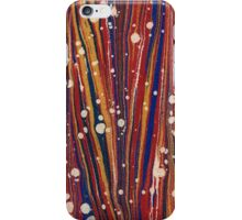 Antique Marbled Paper Blue White Red Yellow iPhone Case/Skin