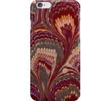Antique Marbled Paper Red Grey Pink iPhone Case/Skin