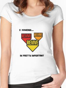 Im pretty important Women's Fitted Scoop T-Shirt