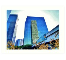 Downtown Plaza Art Print