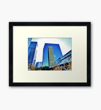 Downtown Plaza Framed Print