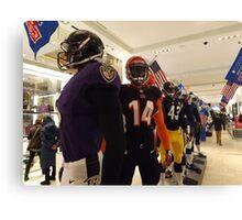 National Football League Uniforms, Super Bowl Week Celebration, Macys, New York City Canvas Print